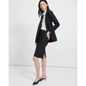 Theory Black Classic Pencil Skirt In Good Wool